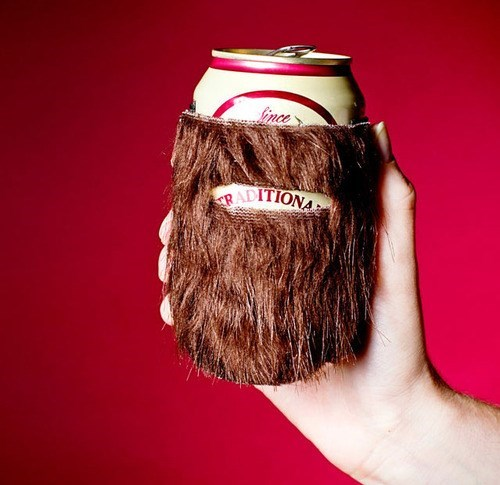 beer beard koozie funny - 8339925504