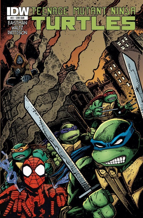 TMNT comics Spider-Man - 8339961600