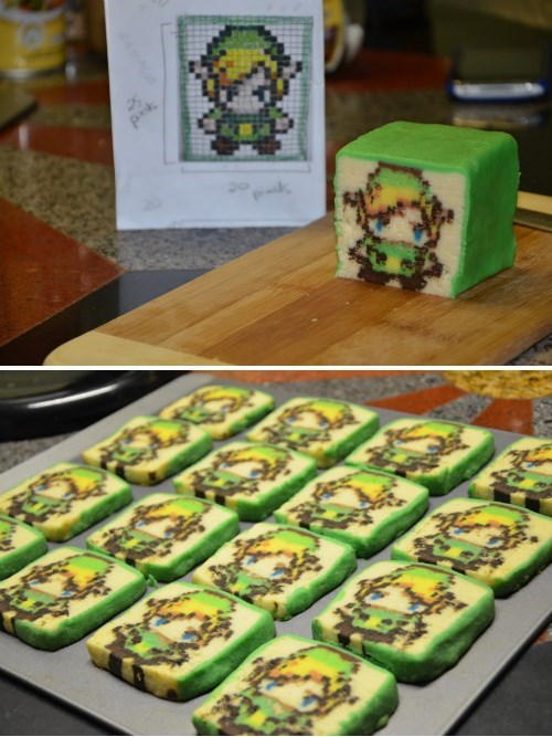 link,legend of zelda,pixel art,noms,cookies