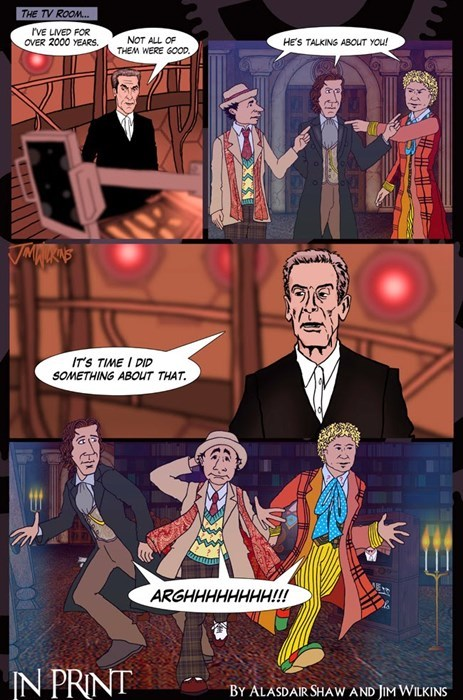 classic who 12th Doctor web comics