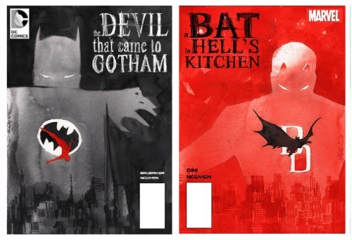 daredevil batman Fan Art - 8339994624