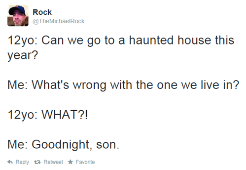 dad humor,haunted,dad jokes,parenting,twitter,failbook,g rated