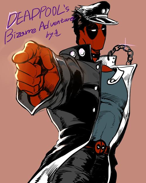 anime crossover Fan Art deadpool JoJo's Bizarre Adventure - 8340251648