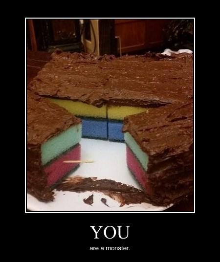 cake evil funny sponge - 8340622336