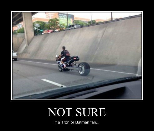 batman motorcycle funny tron wtf