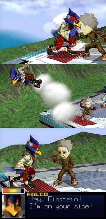 albert einstein,falco,super smash bros,miis