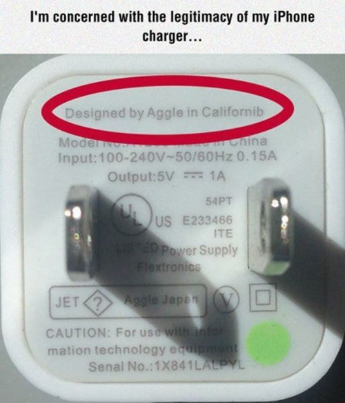 apple,engrish,knockoff