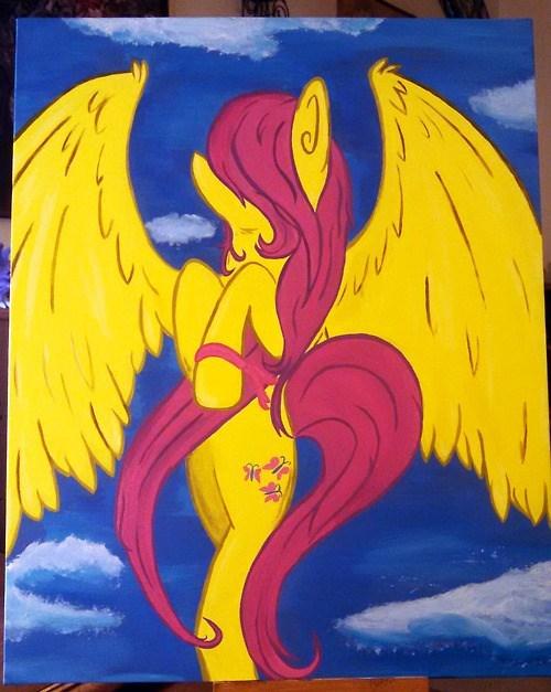 fluttershy,Breast Cancer,Fan Art