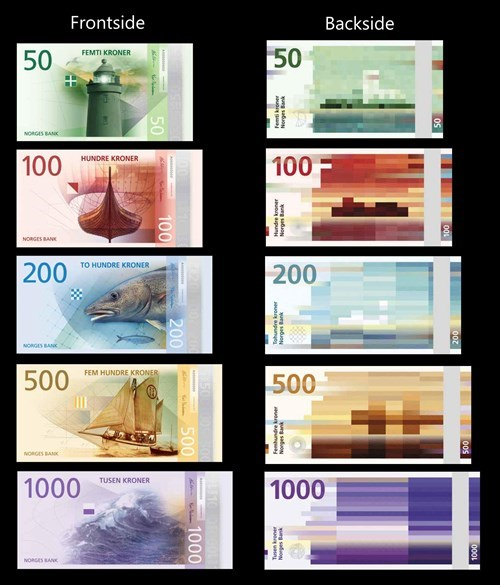Norway design norwegian money currency - 8341543936