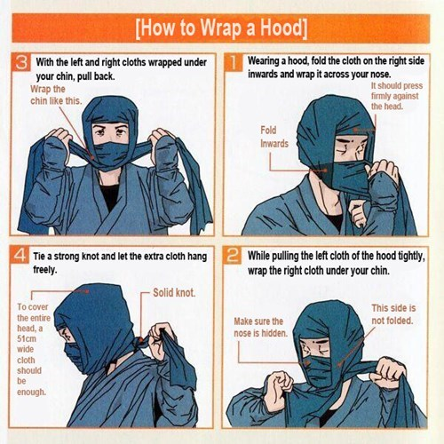 ninja,poorly dressed,instructions,How To