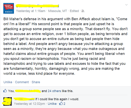 ben affleck,bill mahr,islam,burn,politics