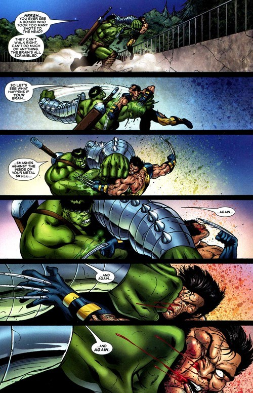 incredible hulk,Straight off the Page,wolverine