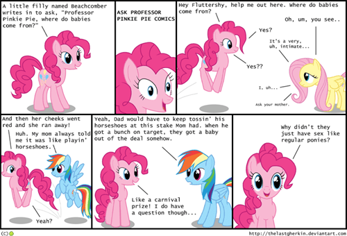 pinkie pie web comics where do babies come from - 8341925888