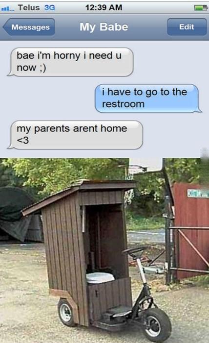 bathroom bike girlfriend texting - 8342024192