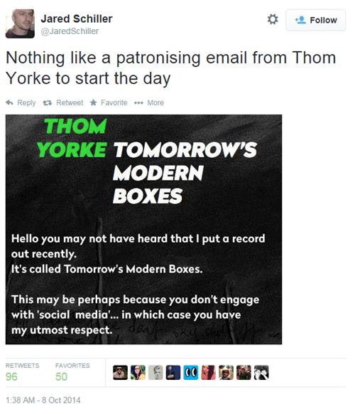 radiohead Music Thom Yorke twitter - 8342028288