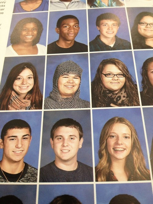 wtf yearbook chainmail funny - 8342140672