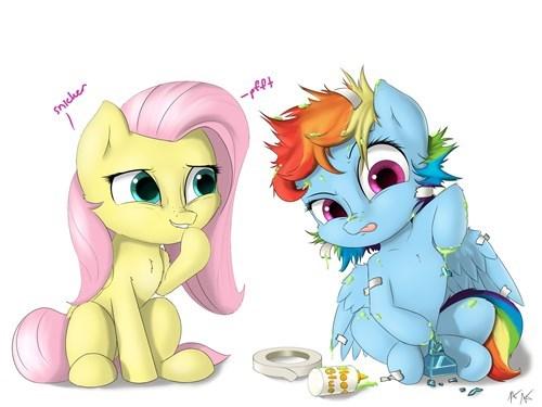 fluttershy Fan Art rainbow dash - 8342193152