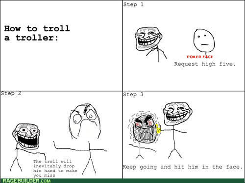 high five,trolling,trollface