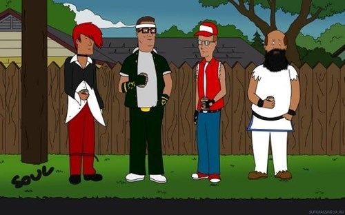 crossover King of the hill video games king of the fighters