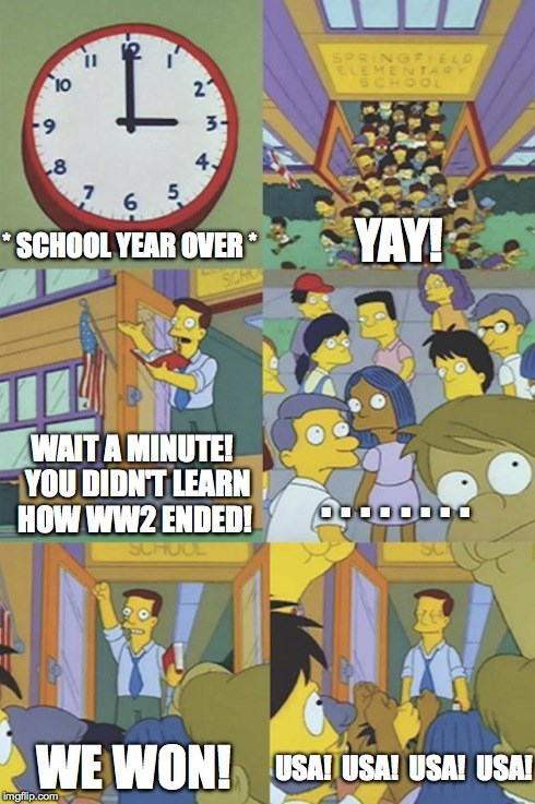 the simpsons,school,world war II