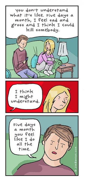 gender issues sad but true periods web comics