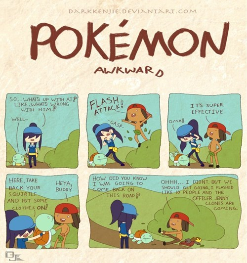 Pokémon,Awkward,flash,web comics