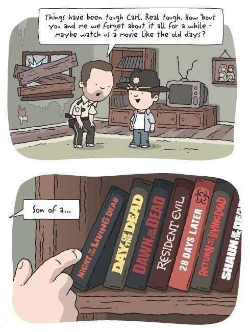 Rick Grimes,zombie,web comics