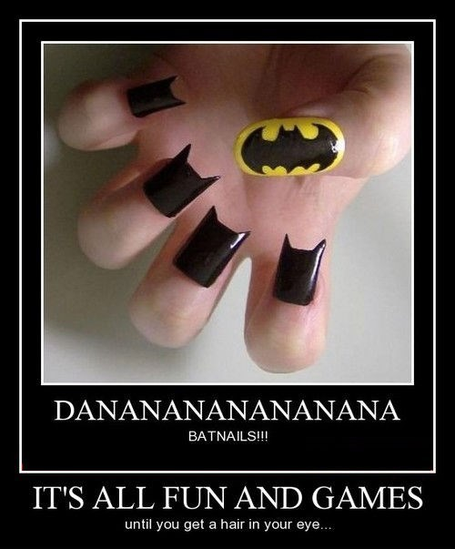 batman funny nails sharp - 8342694144