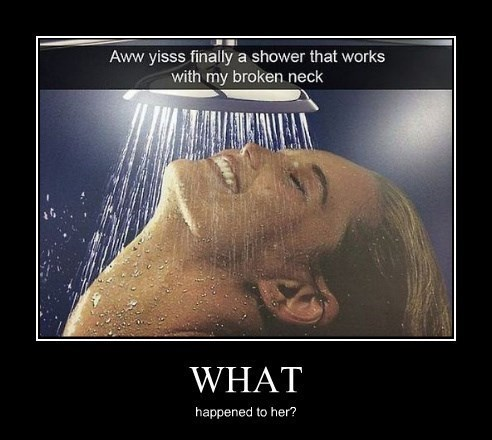 funny,shower,neck,wtf