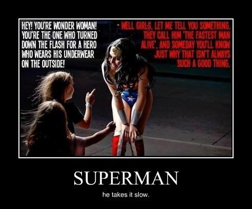 sexy times funny superman wonder woman - 8342696960