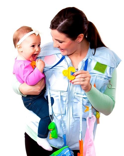 baby parenting poorly dressed vest