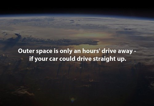 cars earth driving funny Fun Fact space - 8342744832