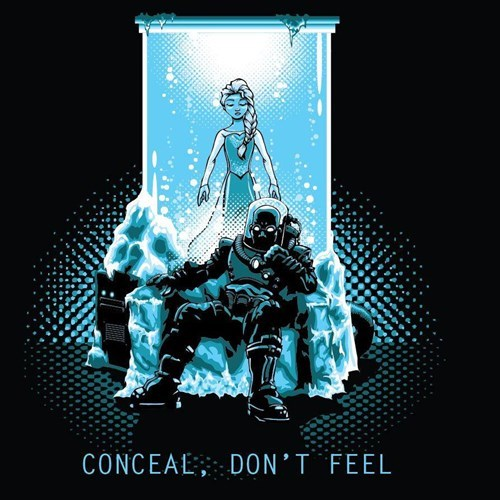 for sale elsa frozen mr freeze tshirts - 8342772736