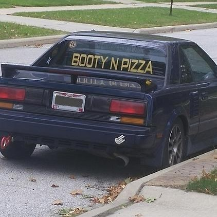 cars booty food wisdom pizza true facts - 8342815744