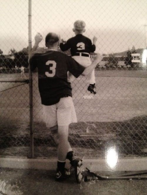 bonding baseball parenting dad vintage