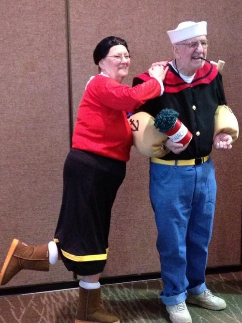 costume,cosplay,poorly dressed,popeye,win,olive oyl