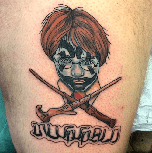 ICP,Harry Potter,juggalos,tattoos