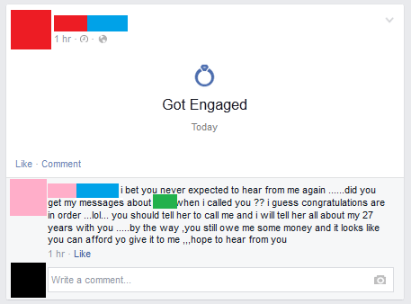 divorce,facebook,engagement,marriage
