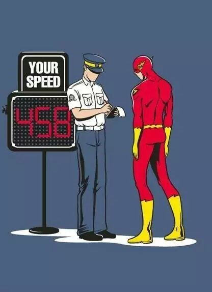 the flash speeding ticket - 8343485952