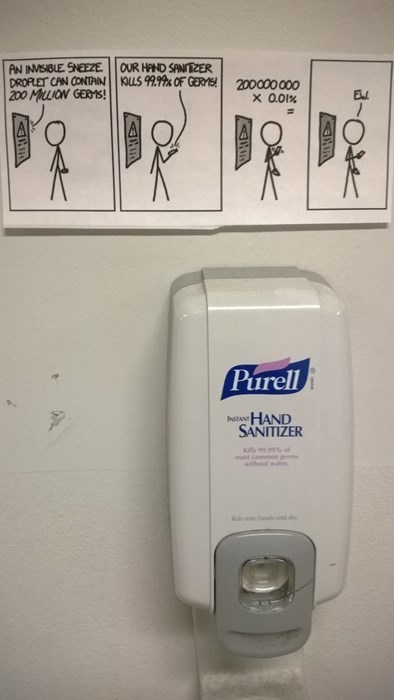 hand sanitizer germs washing hands Purell xkcd - 8343516416