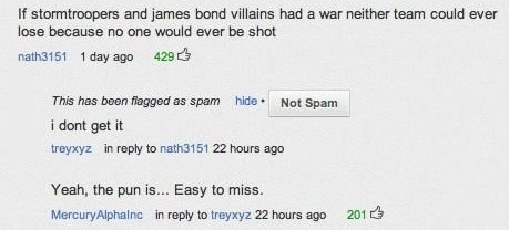 007 james bond puns star wars stormtrooper youtube comments youtube - 8343517696