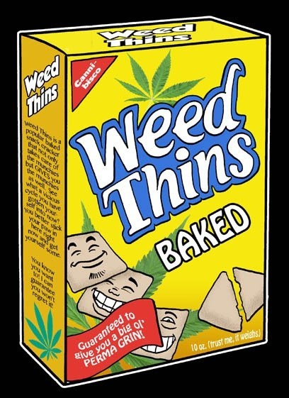 baked drugs funny weed wheat thins - 8343610880