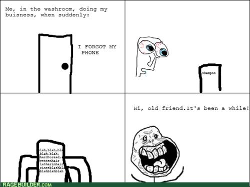 bathroom forever alone phone shampoo - 8343720704