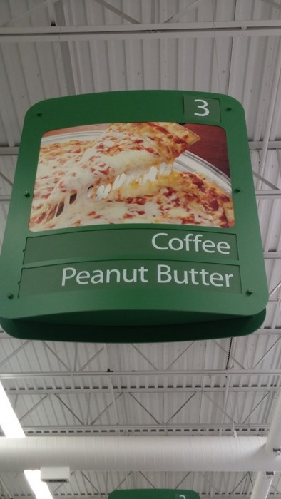 grocery store coffee peanut butter monday thru friday pizza - 8343778048