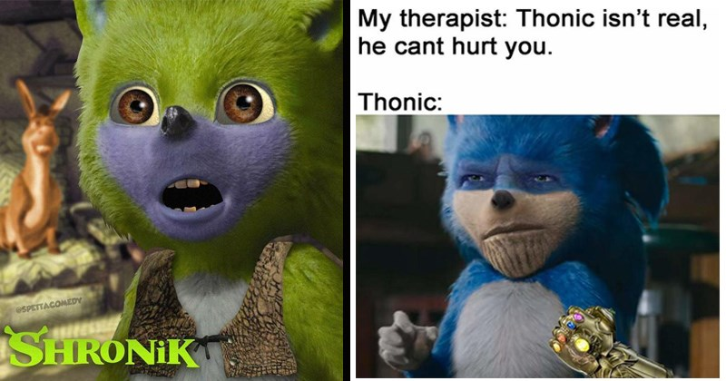 wtf creepy editing sonic the hedgehog sonic movie sega photoshopped cgi video games sonic - 8343813