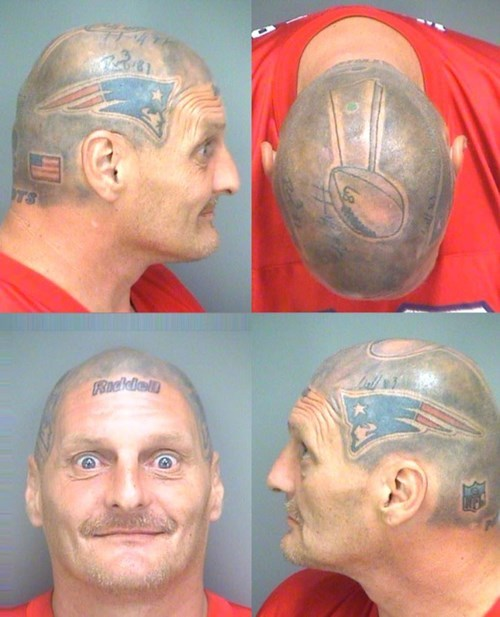 Criminally Dumb Criminal tom brady Ugliest Tattoos football fail nation - 8343947520