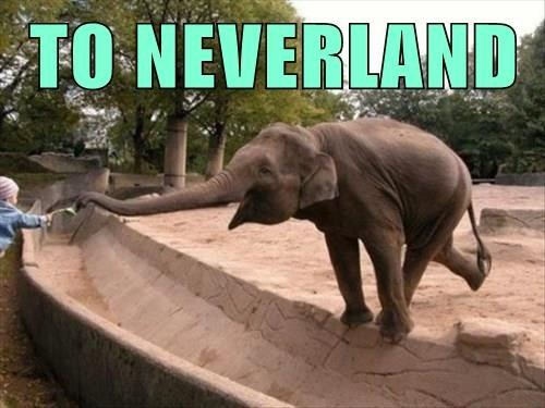 elephant peter pan Neverland