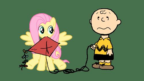 charlie brown fluttershy tree kite