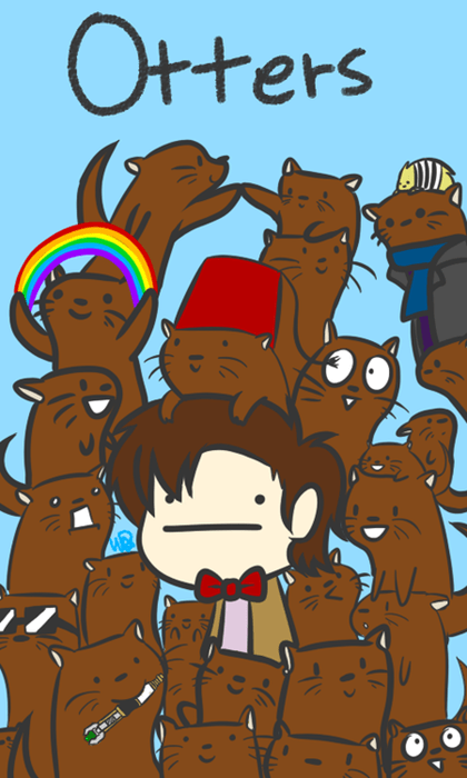 otters,11th Doctor,web comics