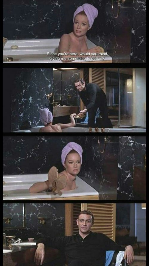 james bond funny jerk sean connery - 8345909504
